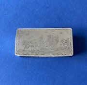 Rare Novelty Solid Silver 'gretna Green' Snuff Box - 1930 - Pairpoint Brothers