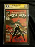 Secret Wars 8 Signed By Stan Lee Graded At A 8