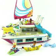 Lego Friends Sunshine Catamaran 41317 Complete With Manual Minifigures Retired