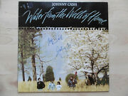 Johnny Cash And Waylon Jennings Signed Lp-cover Water From... Vinyl Acoa