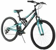 26 Inch Huffy Womenand039s Trail Runner Mountain Bike Dual Suspension Frame