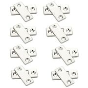 50x8 Sets Of Ultra-thin Strong Magnetic Door Closers Cabinet Door Hasp Latch