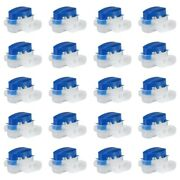 50x40 Pack Cable Connector Waterproof Connector Crimps For Outdoor Garden G6e8