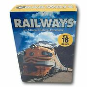 Travel Dvd Railway Journeys And Greatest 10 Disc Box Set R1 New Trains 18 Hrs