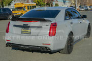 Fit 14-19 Cadillac Cts Sedan Cp Style Abs Rear Trunk Spoiler W/ Wickerbill Wing