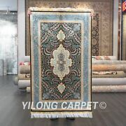 Yilong 3and039x5and039 Classic Handknotted Silk Carpet Indoor Handcraft Area Rug Z540a