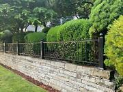Beautiful Victorian Style Wrought Iron Railings - Gt54-r24