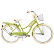 Huffy Nel Lusso Classic Cruiser Bike With Perfect Fit Frame Womenand039s 26andrdquo Green