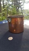 Antique French Copper Berry Bucket - Old Burgundy France Solid Copper Cookware