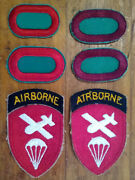 Original 10th 77th Special Forces Group Sf Airborne Command Insignia Lot