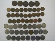 Lot Of 57 Different Old Or Obsolete Canada Coins - 1911 To 1999 - Circulated