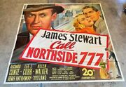 Call Northside 777 Original 6 Sheet Movie Poster - Stewart Hollywood Posters