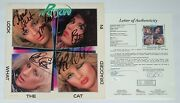 Poison X4 Bret Michaels Cc Bobby And Rikki Signed Look What The Cat Dragged In Jsa