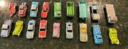 Vintage Antique Tootsietoy Lesney Matchbox Lot Of 18 Vehicles Cars And Trucks