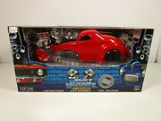 Muscle Machines 1/18 And 1/64 Build It Red 1941 Willys Coupe Set Issue Read