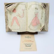 Wdcc Cinderella Cinderellaand039s Sewing Book Figurine With Wooden Stand Box And Coa