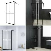 Shower Enclosure Corner Walk-in Door Wall Frosted White Glass Privacy Screen Set