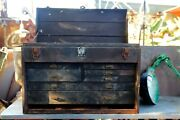 Vintage Kennedy 7 Drawer Machinist Aircraft Engine Mechanic Toolbox Chest