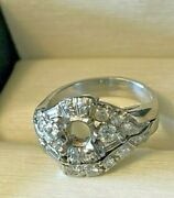 Vintage Platinum And Diamond Engagement Ring Wedding 1950and039s Art Deco W/ Appraisal