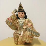 Antique Japanese Doll With Wood Grain