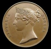 1854 Victoria India General Service 36mm Specimen Bronze Medal - By Wyon