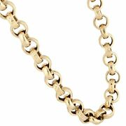 9carat Yellow Gold 20.25 Patterned Belcher Chain/ Necklace 8mm Wide