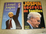 Set Of 2 Books On Lionel Jospin Leclerc / Raffy