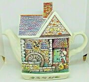 Sadler The Old Mill Teapot, Collectible English Cottage Teapot