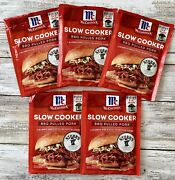 Mccormick Stubband039s Slow Cooker Bbq Pulled Pork Seasoning Mix Bb 8/2022 - 5 Pack