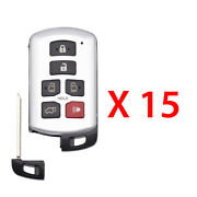 New Replacement For Toyota Sienna Smart Prox Key Fob 6b Fcc Hyq14adr 15 Pack