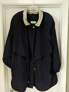 Women's Plus Size Black Coat With Zip Out Lining By Maggie Barnes Size 3x