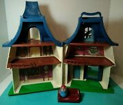 Vintage Hasbro Weebles Haunted House Mansion 1976 - Mansion With Cupola Weeble