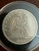 1872 Liberty Seated Half Dollar Excellent Detail