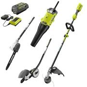 Cordless String Trimmer With Edger/pole Saw/blower Attachment Expand-it By Ryobi