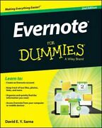 Evernote For Dummies, Paperback By Sarna, David E. Y., Like New Used, Free Sh...