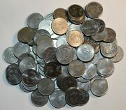 1985 - 1990 Mexico/mexican 10 Pesos 100 Coins Lot Stainless Steel