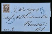 Early Impression/usage Us Scott 1a Dark Brown 1847 5c Due 5 Uspcs Cover Census