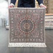 Yilong 2and039x2and039 Square 400lines Tapestry Silk Carpet Medallion House Area Rug 049h