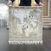 Yilong 2and039x2and039 Square 500lines Ancient Tapestry Silk Carpet Flowers Area Rug 050h