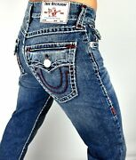 True Religion Menand039s Ricky Relaxed Straight Super T Jeans -101094