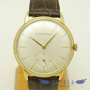 Girard-perregaux Round Case Antique Watch Hand Winding Leather Menand039s Watch
