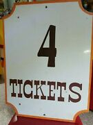 Willow Mill Amusement Park Wood 4 Tickets Sign Local Pickup Only No Packing