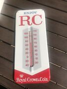 Vintage Royal Crown Cola Metal Rc Thermometer Very Clean Rare Size