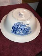 Wedgewood Countryside 9-1/4 Covered Serving Bowl Dish Tureen Blue And White China