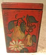 Vintage El Producto Queens Cigar Box Handpainted Wooden Hinged Dovetail Corners