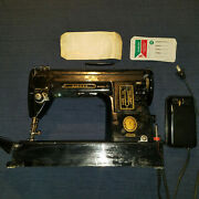 Singer 301a Sewing Machine Black And Gold Working W Foot Pedal Power Vintage
