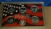 2005 Us Mint 50 State Quarter Silver Proof Set Incomplete 5 Coins Ks-ca-wv-or-mn