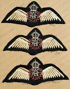 """British Wwii """"royal Air Force"""" Pilots Embroidered Chest Wings"""