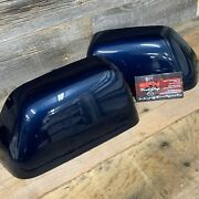Brand New Oem 17+ Ford Super Duty Painted To Match Mirror Caps - Blue Jeans Met