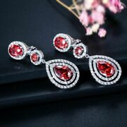 High-quality Women Wedding Party Costume Jewelry Long Water Drop Clip On Earring